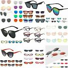 New Unisex Men Women's Round Sunglasses Vintage Retro Oversized Mirror Glasses