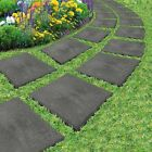 Garden Pathway Stepping Stomp Stones Lawn Paving 30x30cm Eco Recycled Rubber NEW
