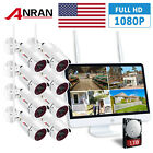 ANRAN 15'LCD 8CH NVR Wifi Security Camera System 2TB HDMI 1080P HD Night Vision