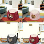 Foldable Pet Dog Cat Bedding Igloo Cave Kennel Puppy House Relax Warm Pad dg US