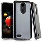 For LG Phoenix 4 LM-X210APM / LG Fortune 2 Brushed Chrome Case Cover
