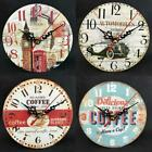 Creative Retro DIY Wall Clock Frameless Analog Clock Home Office Decor T9G1