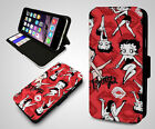 Betty Boop Pink Heart Cartoon Red Kiss Classic Wallet Leather Phone Case Cover $11.44 USD on eBay
