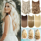 Real Long Hair Piece Hidden Halos Secret Wire In As Human Hair Extensions Curly