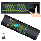 Backlit Gyro Air Mouse Mini Keyboard Remote Control for Android TV Box,Mac,PC