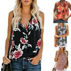 Women Ladies V Neck Loose Sleeveless Floral Print Tank Tops Casual Blouse Shirts for sale  Shipping to Canada