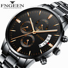 Luxury Stainless Steel Men Fashion Military Army Analog Sport Quartz Wrist Watch image