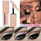 15 Colors Glitter Liquid Eyeshadow Waterproof Lasting Shimmer Metallic Makeup