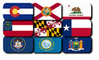 Kyпить All 50 United State Flag Iron On Patch Emblem 4.5x2.5 in or 3.5 x 1.5 in на еВаy.соm