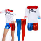 Womens Ladies Suicide Squad Harley Quinn Halloween T-shirts Short Costume £6.49 GBP on eBay