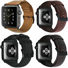 Retro Genuine iWatch Band Leather Men Casual Strap For Apple Watch 4 3 2 38/44mm image