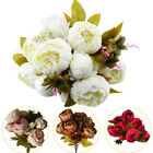 13 Heads Silk Peony Artificial Flowers Peony Wedding Bouquet Home Party Decor Us