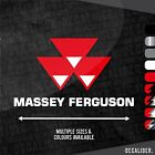 Massey Ferguson w/ Badge Above Sticker Decal Multiple Sizes & Colours - Tractor
