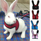 Pet Rabbit Harness Animal Vest Mesh Harness With Leash Soft Small Cat Fashion