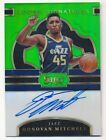 DONOVAN MITCHELL 2017/18 PANINI SELECT RC ROOKIE GREEN AUTOGRAPH SP AUTO #32/65