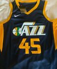Donovan Mitchell Jersey Utah Jazz Jersey #45 Blue All Stitched Free Shipping