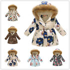 Kids Baby Girls Warm Hooded Wind Dust Coat Winter Jacket Children Outerwear