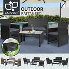 Gardeon Outdoor Sofa Set Dining Furniture Lounge Wicker Chair Table Garden Patio