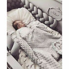 Crib Bumper Bed Bedding Baby Infant Plush Cot Pillow Pad Protector Decor