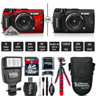 Olympus Tough TG-5 Digital Camera - Black Or Red + Slave Flash + Case + 32GB Kit