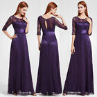 Ever-Pretty Long Lace Formal Evening Gowns Half Sleeve Bridesmaid Dresses 08878