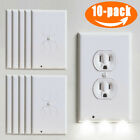 5/10PCS Wall Outlet Cover Plate LED Night Light Auto Switch ON/OFF Socket Outlet