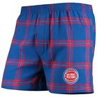 Detroit Pistons Concepts Sport Homestretch Flannel Boxer Shorts - Royal on eBay