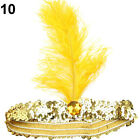 HR- Women's Shiny Sequins Ostrich Feather Headband Show Party Headpiece Costume