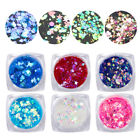 Body Face Makeup Sequins Holographic Eyeshadow Glitter Star Heart Design Tools