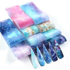 10 Nail Foils Transfer Stickers Decals Holographic Flower Nail Art Starry Paper