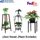 Modern Bamboo/Metal Plant Stand Planter Rack Flower Pots Holder Disply Rack New