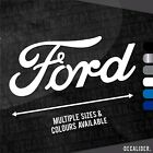 Ford Badge Text Sticker / Decal - Multiple Sizes & Colours - Tractor - Car