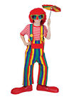 Clown Garden Trousers Overall Rainbow Striped Pants Halloween Costume Accessory