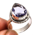 Iolite Ring 925 Sterling Silver Overlay Jewelry Sz6.5