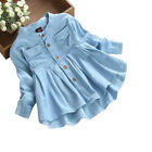 Toddler Kids Baby Girls Autumn Denim Long Sleeve Princess T Shirt Clothes