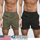 US Mens GYM Shorts Training Running Sport Workout Casual Jogging Pants Trousers