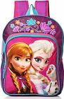 "DISNEY FROZEN ANNA  ELSA Light-Up 16"" Backpack w/ Optional Insulated Lunch Box"