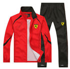 Men Fitness TrackSuit Sport Jacket Coat Suit Trousers Pants Red Blue Yellow Blac