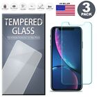 Tempered Glass Screen Protector 3-Pack for iPhone X XS Max XR 6 6S 7 8 Plus 5 SE