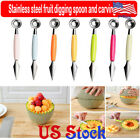 Double-headed Stainless Steel Dig Ball Spoon Knife Cutting Fruit Carving Tool
