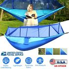 Single & Double Camping Hammock with Mosquito Net Portable Camping Outdoor