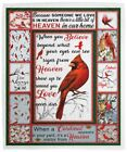 Because Someone We Love Is In Heaven Cardinal Cozy Plush Fleece Blanket - 50x60 image