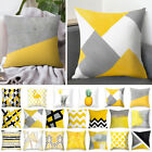 Pillow Case Yellow Polyester Sofa Car Waist Throw Cushion Cover Home Decoration