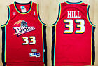New Men's Detroit Pistons 33# Grant Hill basketball jersey Mesh retro red on eBay
