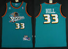 New Men's Detroit Pistons 33# Grant Hill Basketball jersey Mesh Retro green on eBay