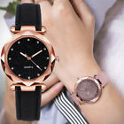 Fashion Women Ladies PU Leather Rhinestone Analog Quartz Wrist Watches Bracelet image