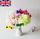 Home Accessories Wedding Decor Fake Lily Artificial Flowers Lilies Bouquet  Uk