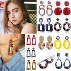 Boho Geometric Women Dangle Drop Hook Acrylic Alloy Ear Stud Earrings Jewelry image