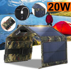 20w Usb Solar Panel Fold Power Bank Outdoor Camping Hike Battery Charger 2019