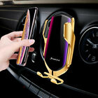 Wireless Car Charger Holder Qi Fast Charging Infrared Sensor Automatic Clamping